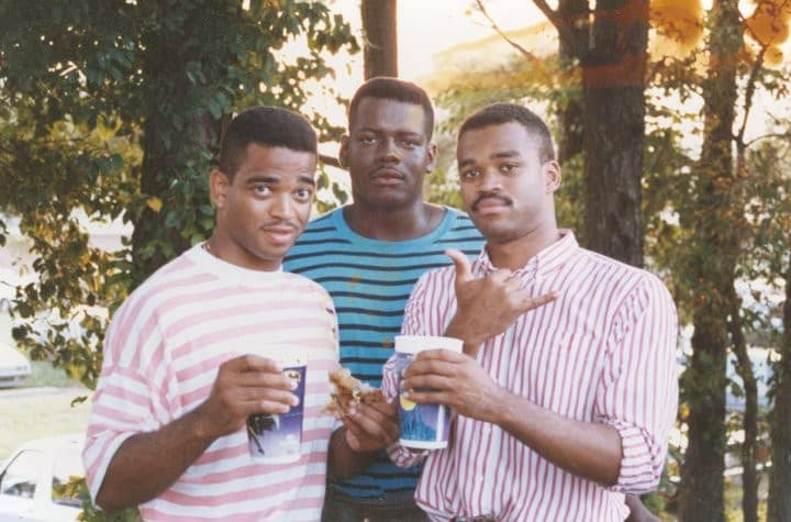 (left) Stuart Scott, Stephen Scott and friend Fred Tindal, just out of college