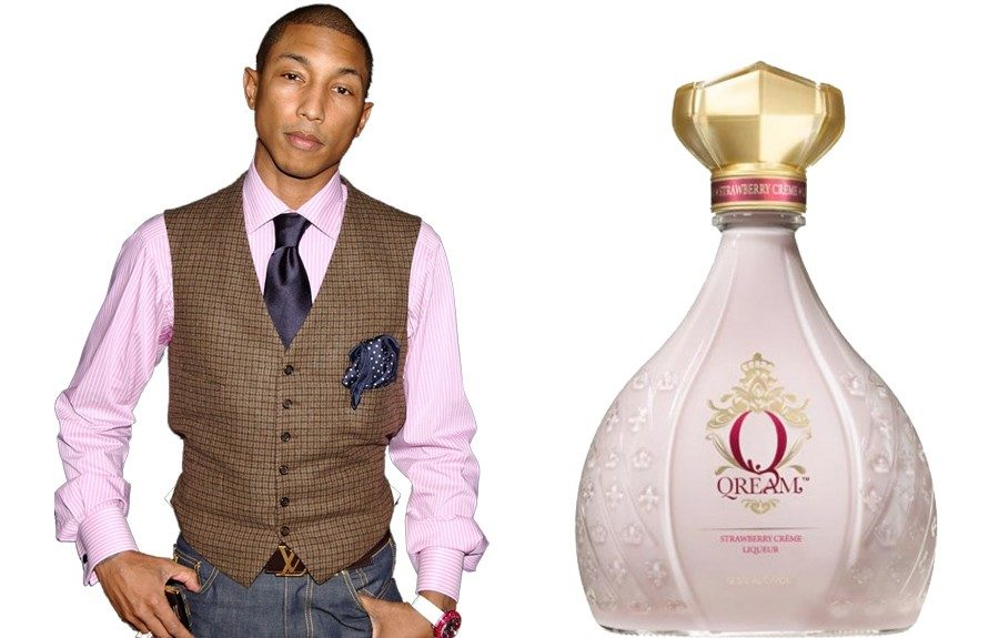 Pharell has been touting Qream, his ultra premium liquer, since 2011. Available in two varieties (strawberry and peach), the creamy drink boasts a relatively low-calorie count and is also lactose free.
