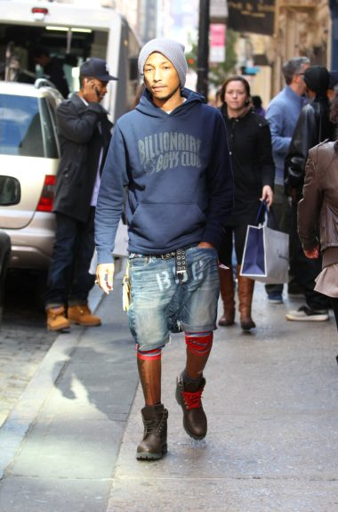 "Pharell Williams our in the ""Soho"" section of New York City"