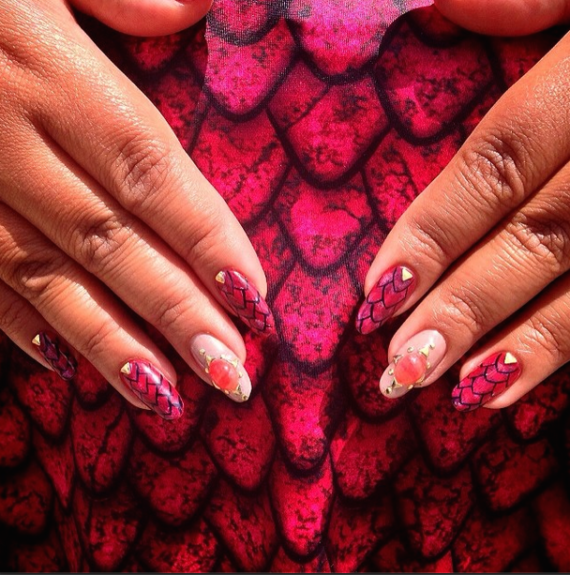 A closer look at these intricate nails.