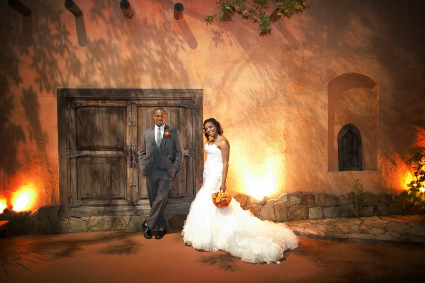 The rustic Texas setting provides the perfect backdrop