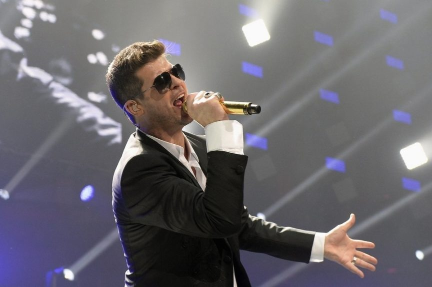 """Song: Blurred Lines  Year: 2013  Artist: Robin Thicke  Lyrics: """"Good girl, I know you want it … Talk about getting blasted / I hate these blurred lines / I know you want it / But you're a good girl / The way you grab me / Must want to get nasty."""""""