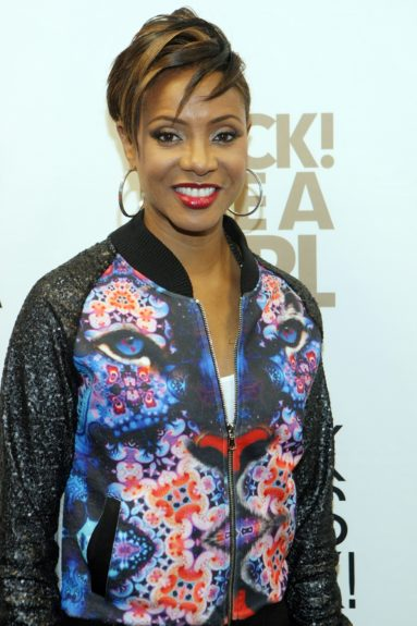 MC Lyte, all smiles backstage at Rock! Like a Girl