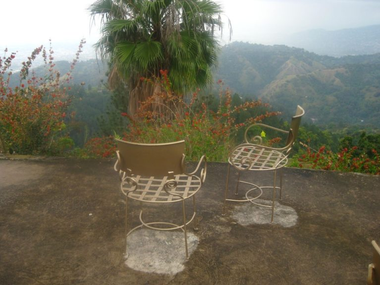 The view from Strawberry Hill Resort after a rain shower.