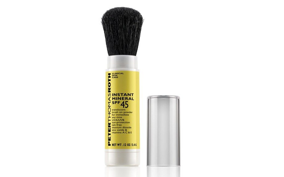 SPF - Peter Thomas Roth gives you a quick and luxurious way to protect your gorgeous skin. Brush this translucent powder on after your makeup for sun protection all day long! Peter Thomas Roth Anti-Aging Instant Mineral SPF 45, sephora.com, $58