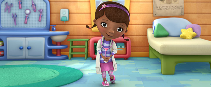 Doc McStuffins in her room and dream clinic