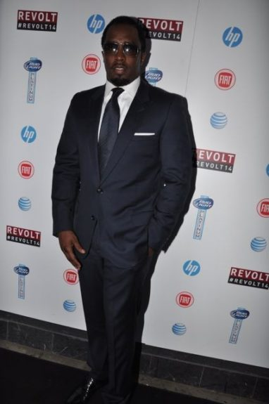 """Sean """"Diddy"""" Combs poses on the red carpet"""