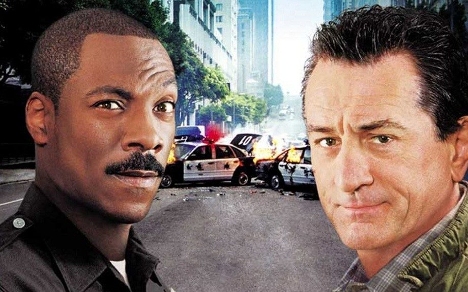 Eddie Murphy plays Trey Sellars, a police officer starring in a reality cop television show, in the comedy film <em>Showtime</em> (2002.)