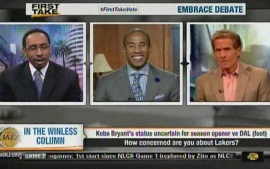 """ESPN2's Stephen A. Smith blurts out """"n**ga please"""" during a discussion about Kobe Bryant's injuries on live TV."""