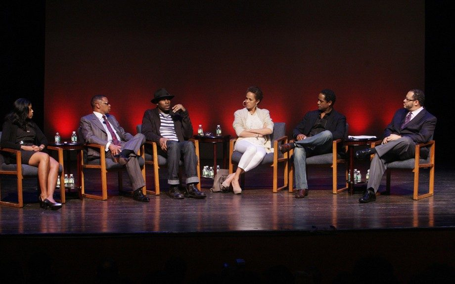 Schomburg <em>Theater Talk</em> with <em>Streetcar </em>cast and producers with Michael Eric Dyson, Monday, May 7, 2012. (Photo By Terrence Jennings)