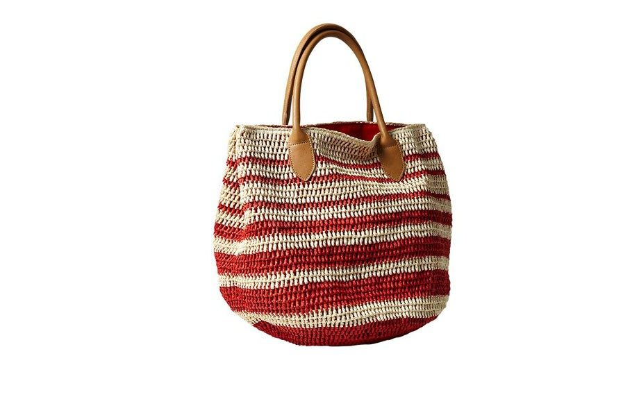 Striped Straw Tote, $59.95 at gap.com