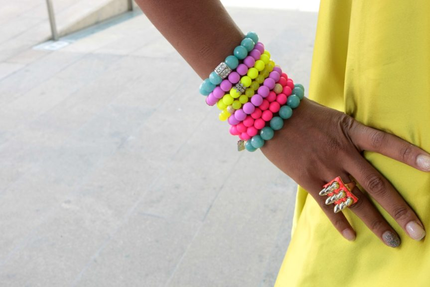 Fun with beads and bold colors!