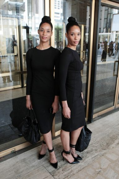 Beautiful twins: every man's dream. Beautiful twins that are <em>dressed</em>: every stylist's dream.