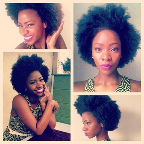 There's nothing like a nice shaped Afro and a bold lip to spice up a summer look.