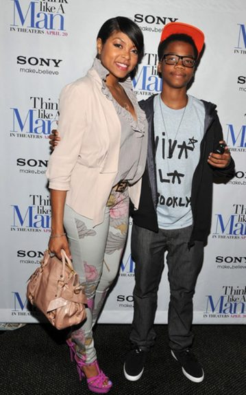 """Taraji Henson and son Marcel at the recent premiere of """"Think Like a Man"""""""