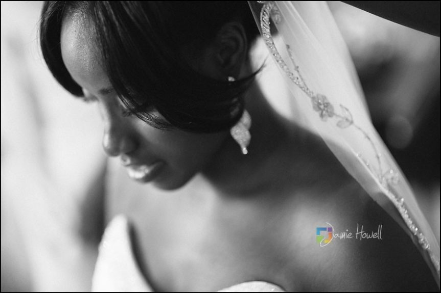 A Moment in Time: The bride is ready to walk down the isle and meet her groom.