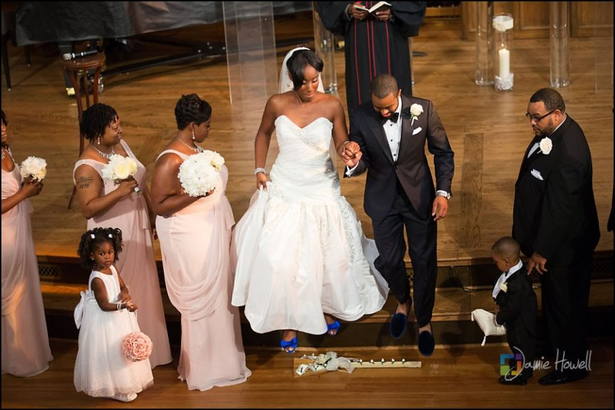 Jumping the Broom: The Tarrant's kept an African tradition apart of their special day.