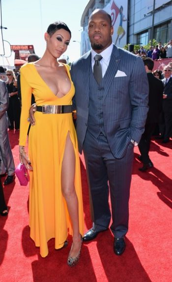 Terrell Suggs and his date looking headline worthy
