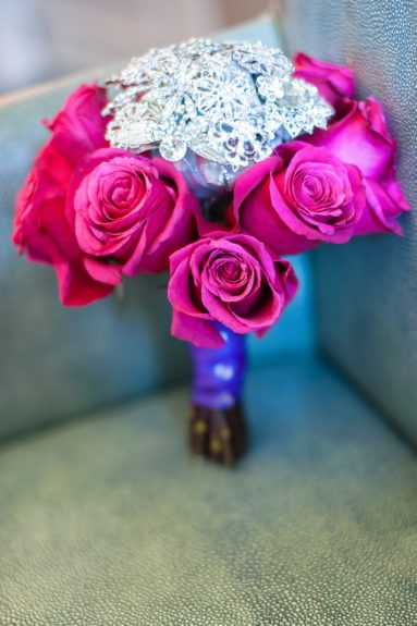 The bouquet was so pretty and classic, we had to show it off.