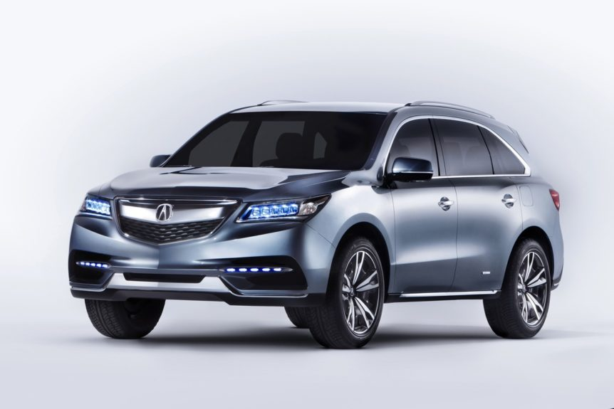 The 2014 MDX Protype gets a mid-year update.  A non all-wheel drive model will be available