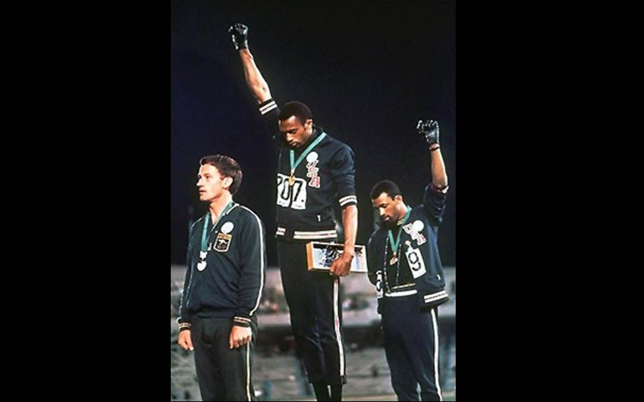 Tommie Smith Smith is probably more known for the black power salute that he gave when winning the gold medal in 1968 Summer Olympics than for winning the actual medal for the 200-meter dash