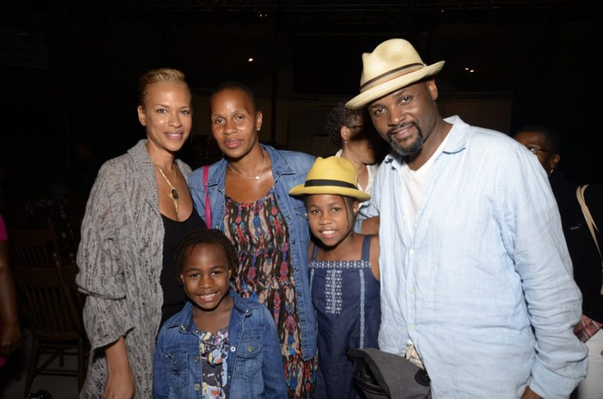 Tonya Lewis Lee with Jeanine Liburd (BET EVP of PR) and Liburd's family.jpg