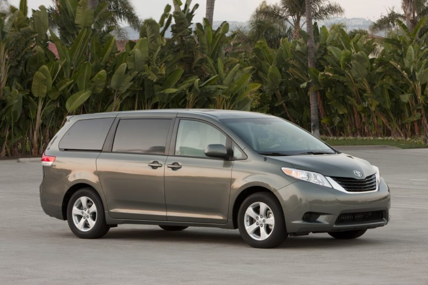 Toyota Sienna LE:with a 4-cylinder engine runs around $1,100 annually.