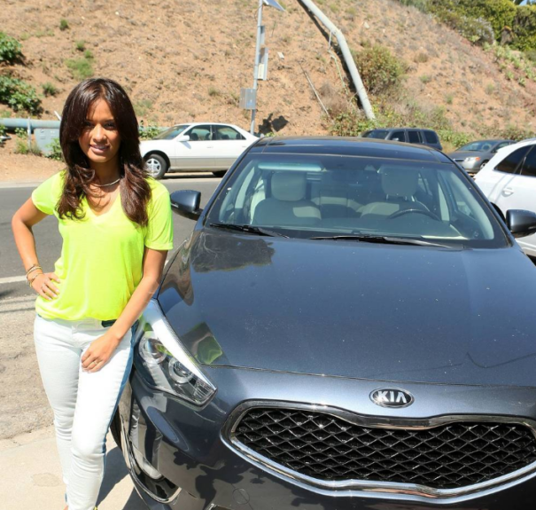 Rocsi Diaz arriving at the Kia Motors Beach House powered by Sabra in Malibu on Sunday.