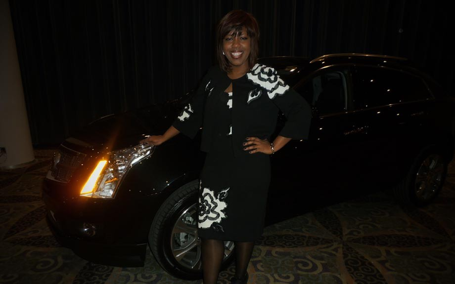 Jocelyn Allen, GM's director of grassroots and diversity communications, takes a breather after the unveiling Driven's latest automotive publication, featuring African Americans in the auto industry.