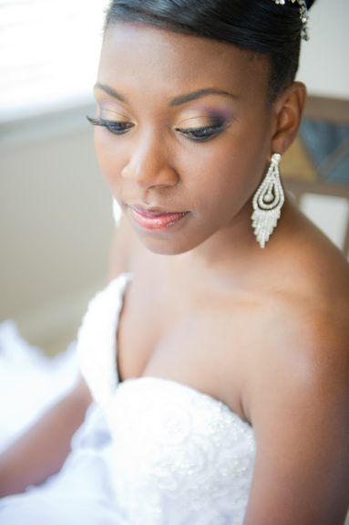 The Bride: ReNelle Whyte in a moment of peace on her special day