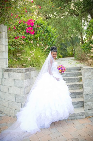 The Finishing Touch: Whyte's looks like a princess in her beautiful wedding dress