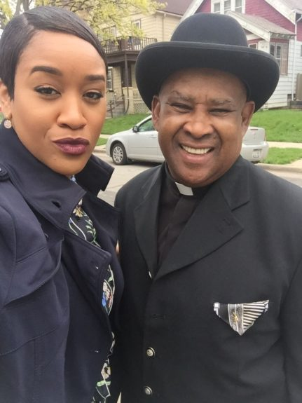 "<p> 	<a href=""http://instagram.com/AprilIvory"" target=""_blank"">April Ivory</a>, Account Executive (Fashion Fair) and her Dad Derrick Ivory</p> <p> 	""Keep God First""</p>"