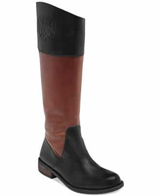 "<font size=""2""><span style=""font-size:10pt;"">Two-toned is on trend, and the logo detail adds a little extra flair. Vince Camuto Kellini Tall Riding Boots ($99.99; charlotterusse.com)</span></font>"