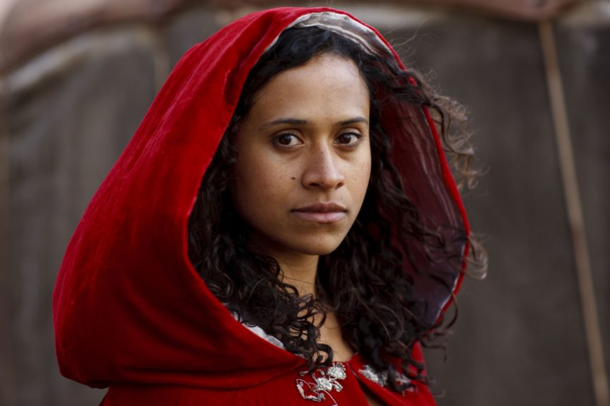 "Angel Coulby, 32, has played the role of Queen Guinevere ""Gwen"" Pendragon on the British fantasy-adventure series <em>Merlin </em>since 2008."