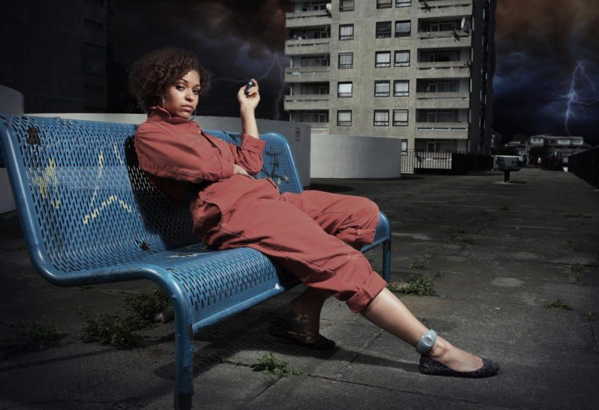 Twenty-six-year-old Antonia Thomas made a major mark on the TV scene with her frisky character Alisha Bailey on the British comedy-drama series, <em>Misfits</em>.