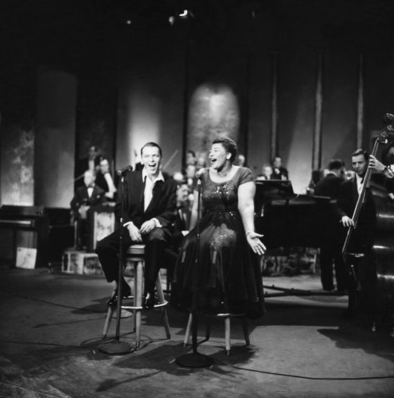 From the EBONY Collection, Ella Fitzgerald and Frank Sinetra share a stage as the sing one of their many duets in 1958 (Howard Morehead). View the entire EBONY Collection by selecting Store in the upper right corner of the homepage.