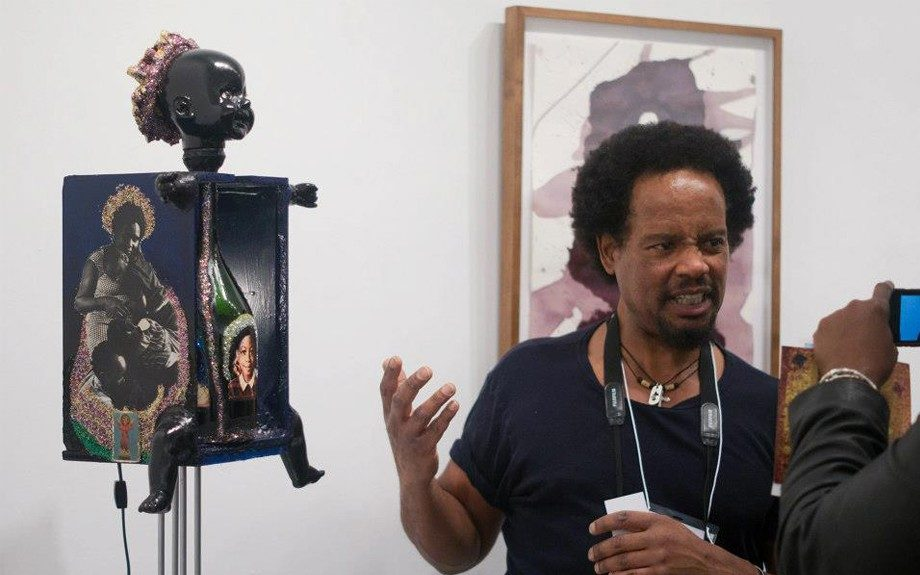 Jeremiah Drake discusses his art entitled, Black Baby in the Garbage-Don't Pay That Baby No Mind.