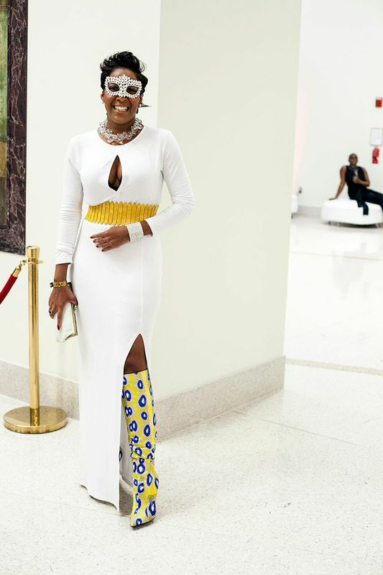 A guest reminds us that coordination is key.  Photography by Adama Delphine Fawundu