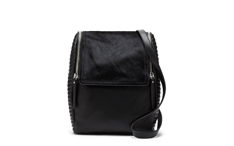 """For her: VinceCamutoBailyLeather & Calf Hair Backpack, $298, <a href=""""http://bit.ly/1tI2Lrp"""" target=""""_blank"""">www.nordstrom.com</a>"""