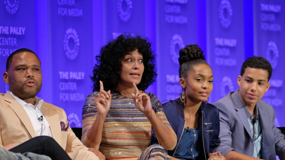 <p> 	Anthony Anderson, Tracee Ellis Ross, Yara Shahidi, and Marcus Scribner (Photo: Michael Bulbenko for the Paley Center)</p>