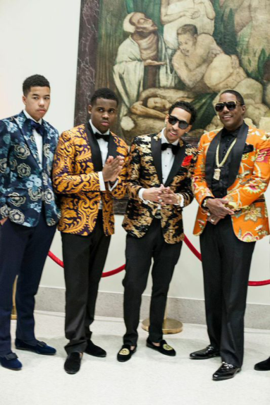 Rapper Ma$e and friends dressed in designs by 5001 FLAVORS.  Photography by Adama Delphine Fawundu