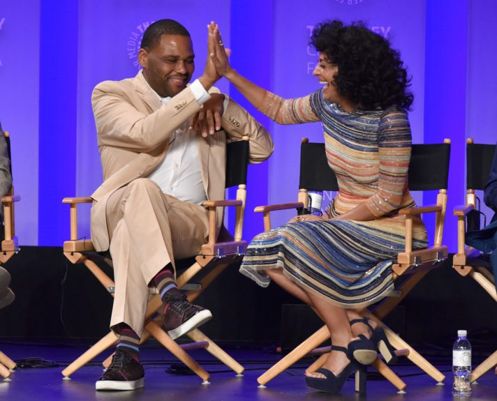<p> 	Anthony Anderson and Tracee Ellis Ross (Photo: Michael Bulbenko for the Paley Center)</p>