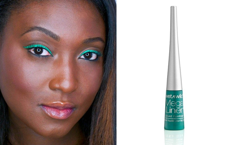 """Go big and bright for the weekend on a budget with Wet 'N' Wild's Mega Liquid Liner in Turquoise#863 (<a href=""""http://www.walmart.com/ip/Wet-n-Wild-Mega-Liner-Eye-Liner-863-Liquid-Turquoise-0.12-fl-oz/10316117?action=product_interest&action_type=image&placement_id=irs_"""