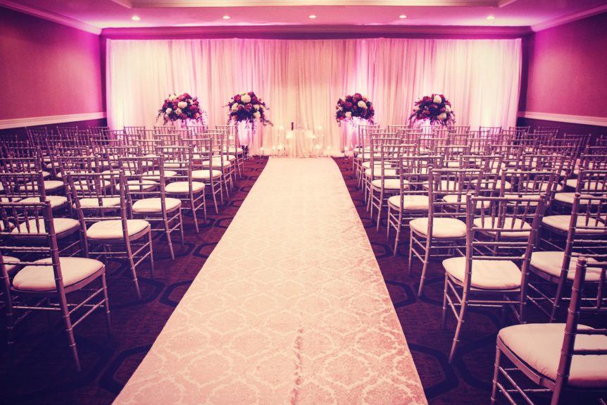 The ceremony setup was simple and chic, but still very elegant.