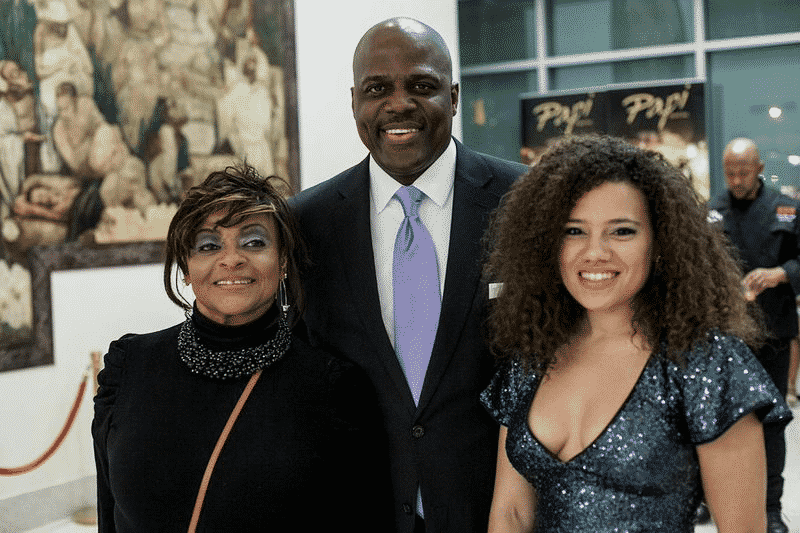 Harlem council member Inez E. Dickens with fellow guests.  Photography by Adama Delphine Fawundu