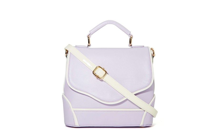 """If there's any tote you're going to carry this Summer, make it this Nasty Gal Sabrina Tote that's small in size and soft in color, $45,<a href=""""http://nastygal.com/accessories-bags/sabrina-tote"""" target=""""_blank"""">www.nastygal.com</a>."""