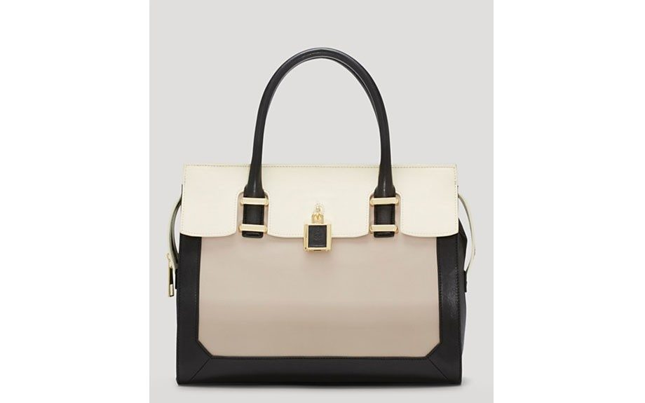 """The only work bag you need this Summer is this VinceCamutoHeidi Satchel, $298, <a href=""""http://goo.gl/RVFp43"""" target=""""_blank"""">www.bloomingdales.com.</a>"""
