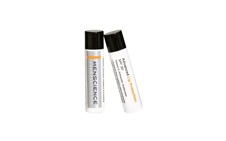 """<a href=""""http://www.groominglounge.com/menscience-advanced-lip-protection-spf-30.html"""" target=""""_blank"""">MenScienceAdvanced Lip Protection SPF 30</a>($12.00)"""