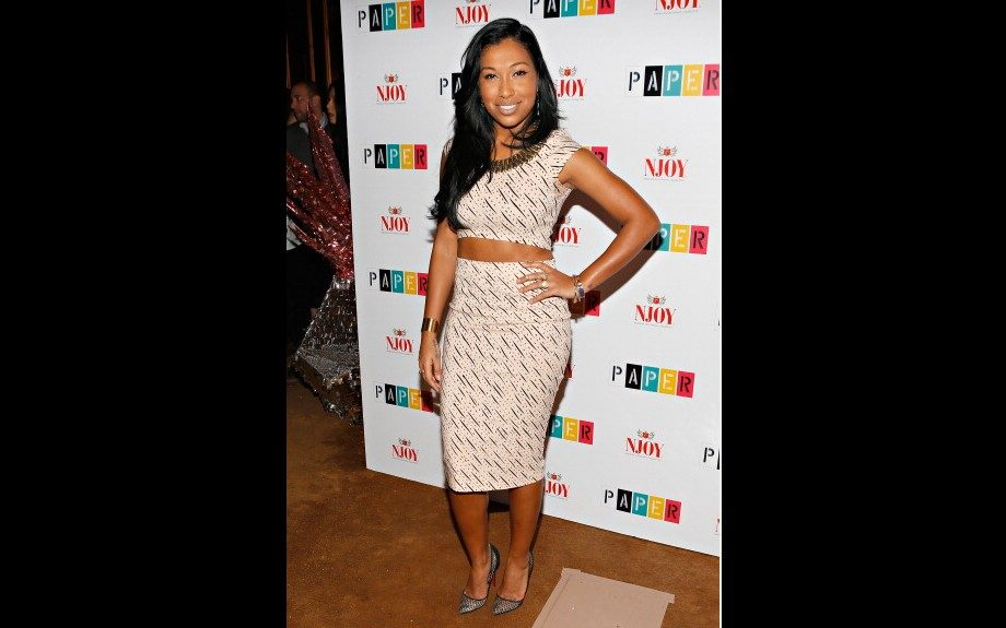 Melanie Fiona was on the scene at <em>Paper</em>magazine's Sweet 16 party in Nasty Gal's Mad Dash Crop Top and Pencil Skirt, paired with Louboutin pumps. Photo Credit: Getty