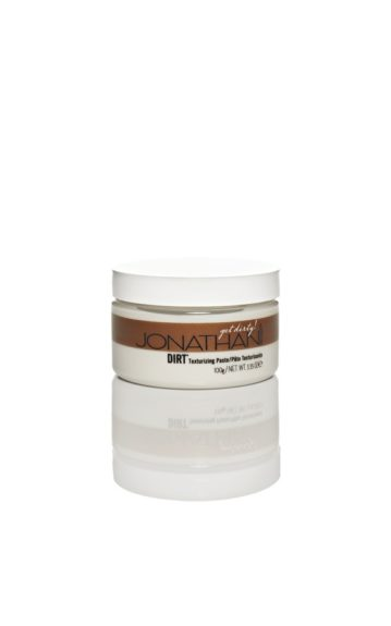 "Go-To Product: Jonathan Product Dirt Texturizing Paste.""I love that Dirt allows you to manipulate the hair without a bad film build-up.""  ($26; jonathanproduct.com)"